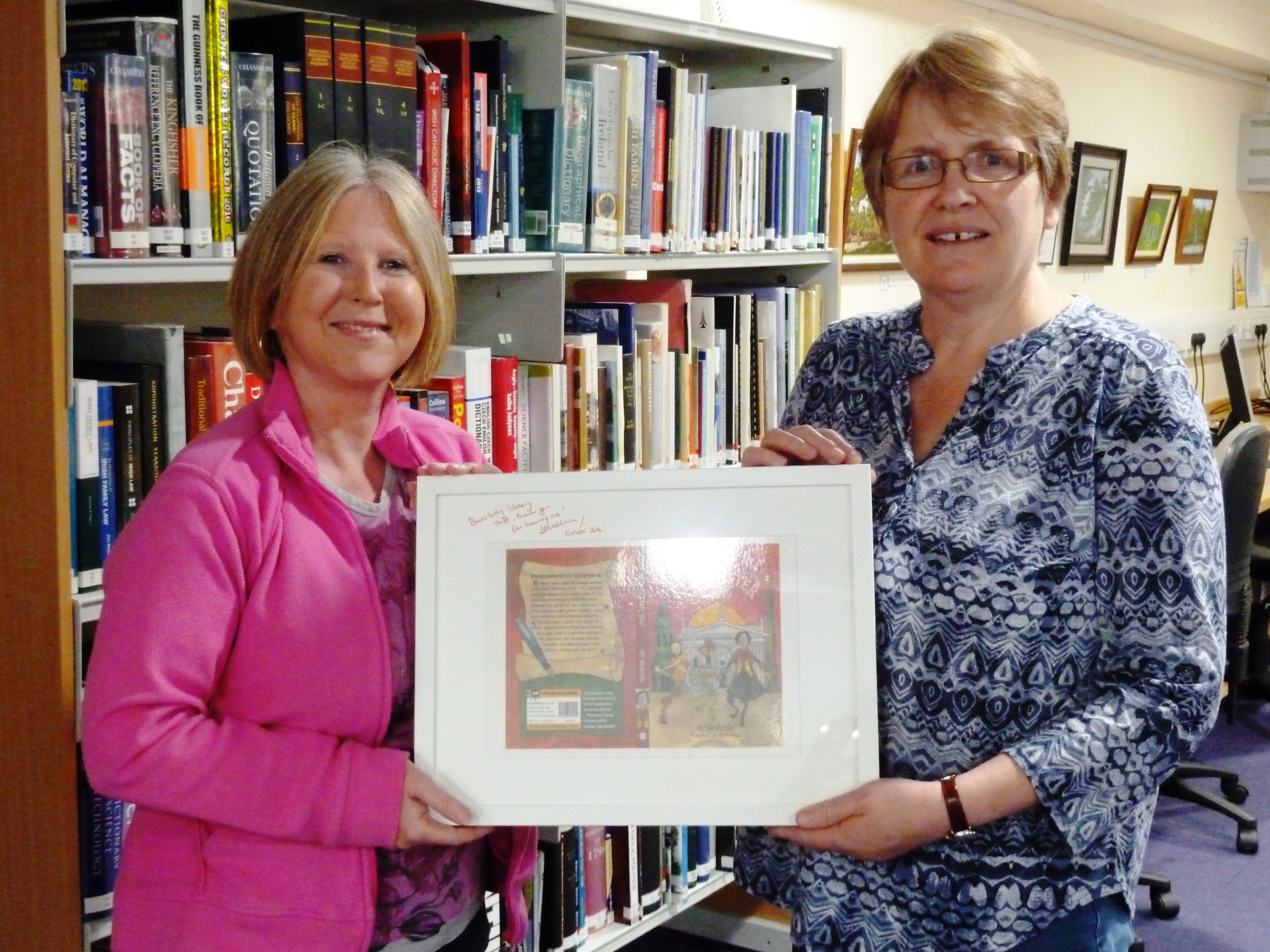 bunclody-library-wexford-childrens-book-festival-the-red-letter-day-by-sp-mcardle-oct-3-2016-presentation-to-librarian-mairead