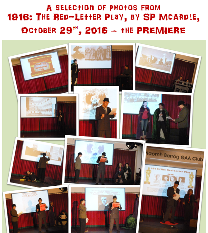 Collage of photos from 1916 - The Red-Letter Play, premiere October 2016