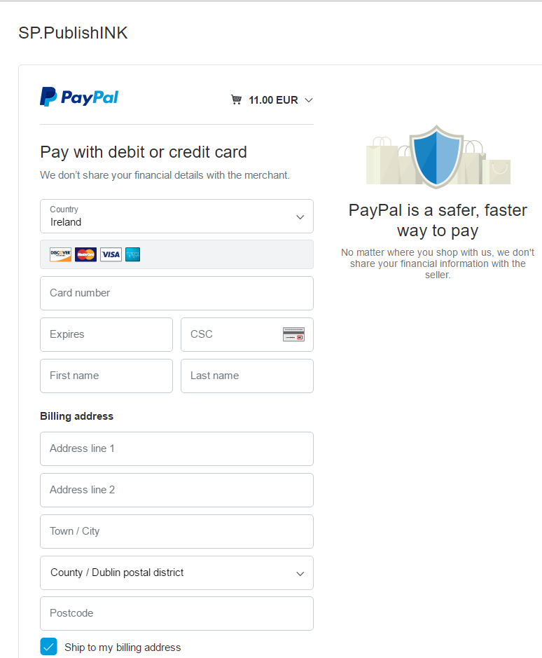 PayPal - help with The Red-Letter Day by SP McArdle - top of screen 2